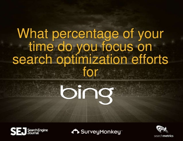 What percentage of your time do you focus on search optimization efforts for