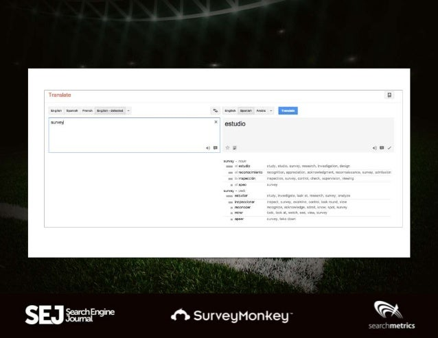 Use Chrome's automatic translation • View each competitor site to find keywords • Look at the English to find important ke...