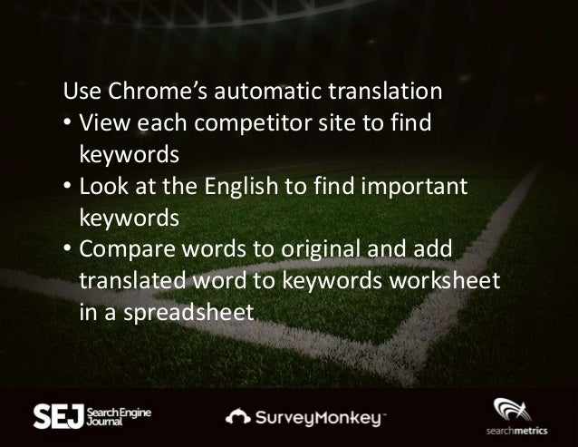 Native speakers will tell you which keywords are actually correct