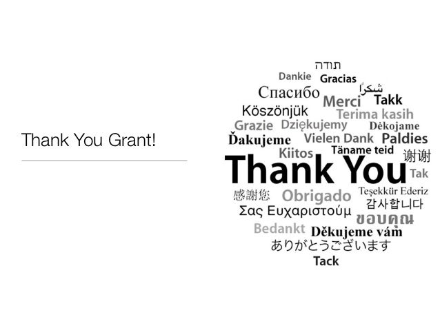Thank You Grant!