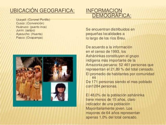UBICACIÓN GEOGRAFICA  INFORMACION DEMOGRAFICA  Loreto (prov. Ucayali) Madre de Dios (tambopata) Ucayali (coronel portillo)...