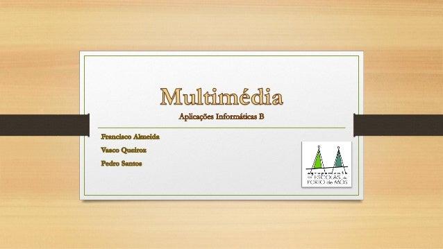 """Tendo em conta a origem etimológica da palavra """"Multimédia"""" nota-se que este termo pode ser separado em duas partes: """"Mult..."""