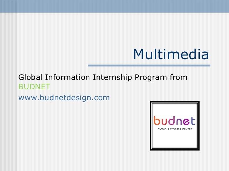 MultimediaGlobal Information Internship Program fromBUDNETwww.budnetdesign.com