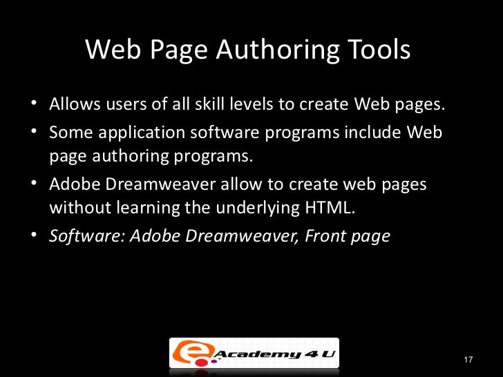 Web authoring software: easily create websites with these great tools.
