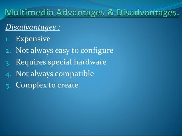 advantages and disadvantages of multimedia elements