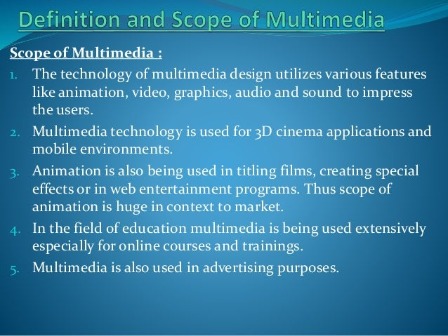 basics of multimedia This literature is intended for everyone who wants to learn about the basics of (multi)media production, with planning and preparation of project documentation for creating various simple (multi)media products and learning of organisational solutions enabling optimum operation in a certain field of production.