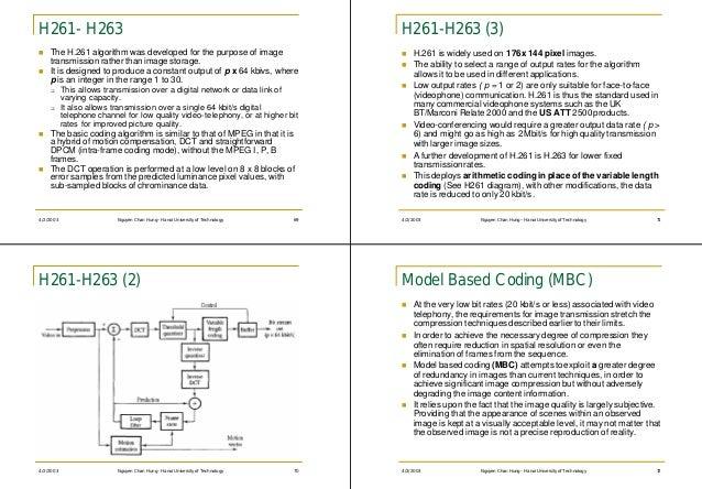 H261- H263                                                                         H261-H263 (3)n   The H.261 algorithm wa...