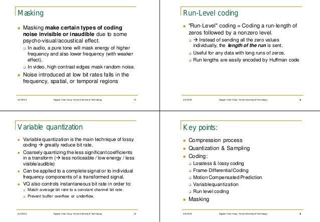 Masking                                                                          Run-Level codingn   Masking make certain ...