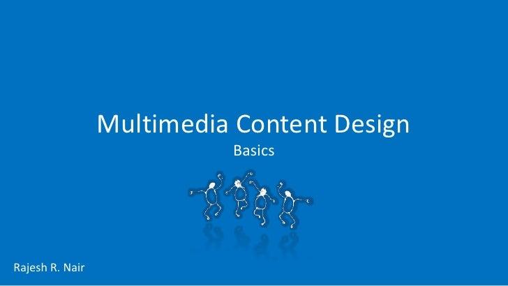 Basics of Multimedia Content