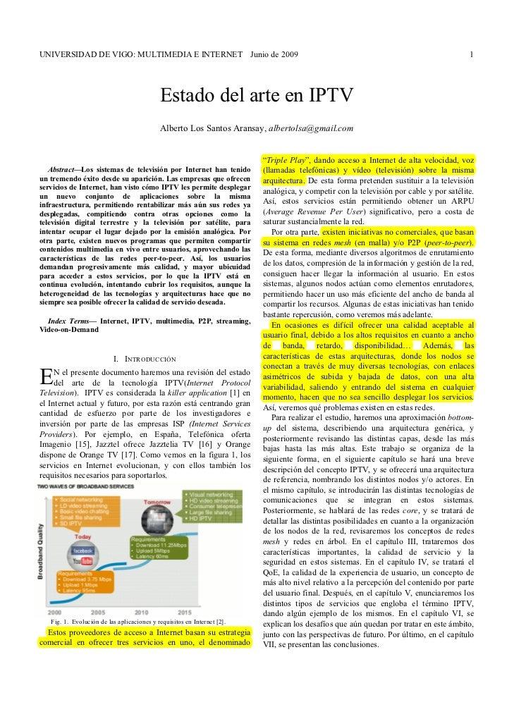 UNIVERSIDAD DE VIGO: MULTIMEDIA E INTERNET Junio de 2009                                                                  ...