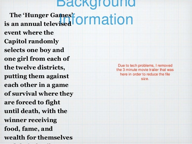 the hunger games multimedia essay outline presentation multimedia essay the hunger games 2