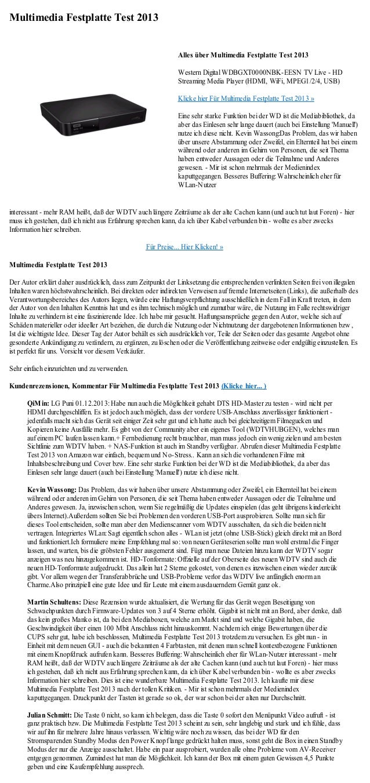 Multimedia Festplatte Test 2013                                                              Alles über Multimedia Festpla...