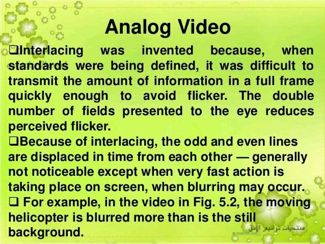 Multimedia Fundamental Concepts In Video