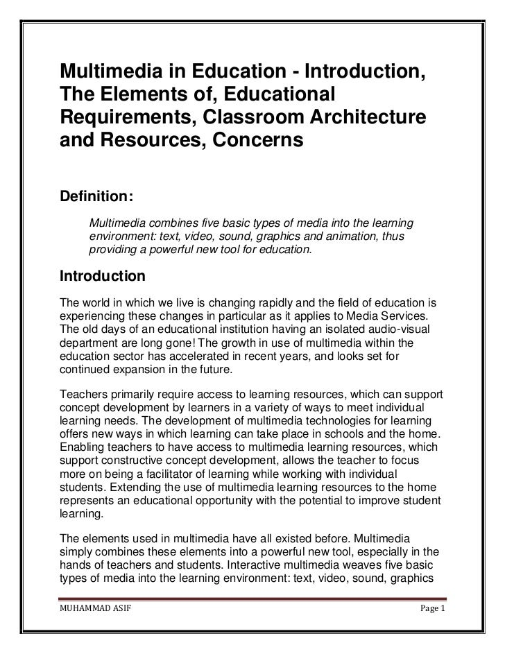 Importance of Multimedia in computing Essay