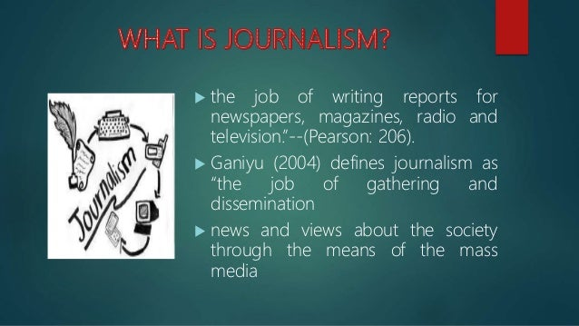 Multimedia journalism Slide 2