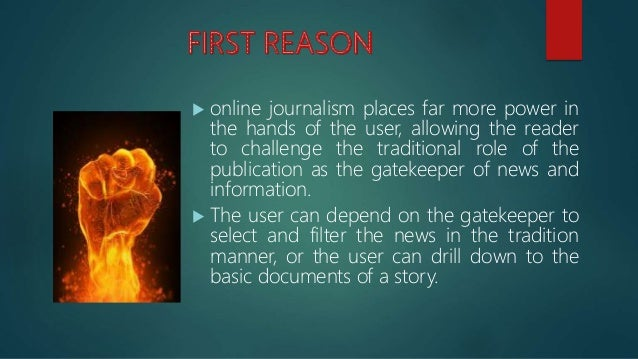  online journalism opens up new ways of storytelling, primarily through the technical components of the new medium.  Sim...