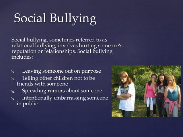 bullying problem statement