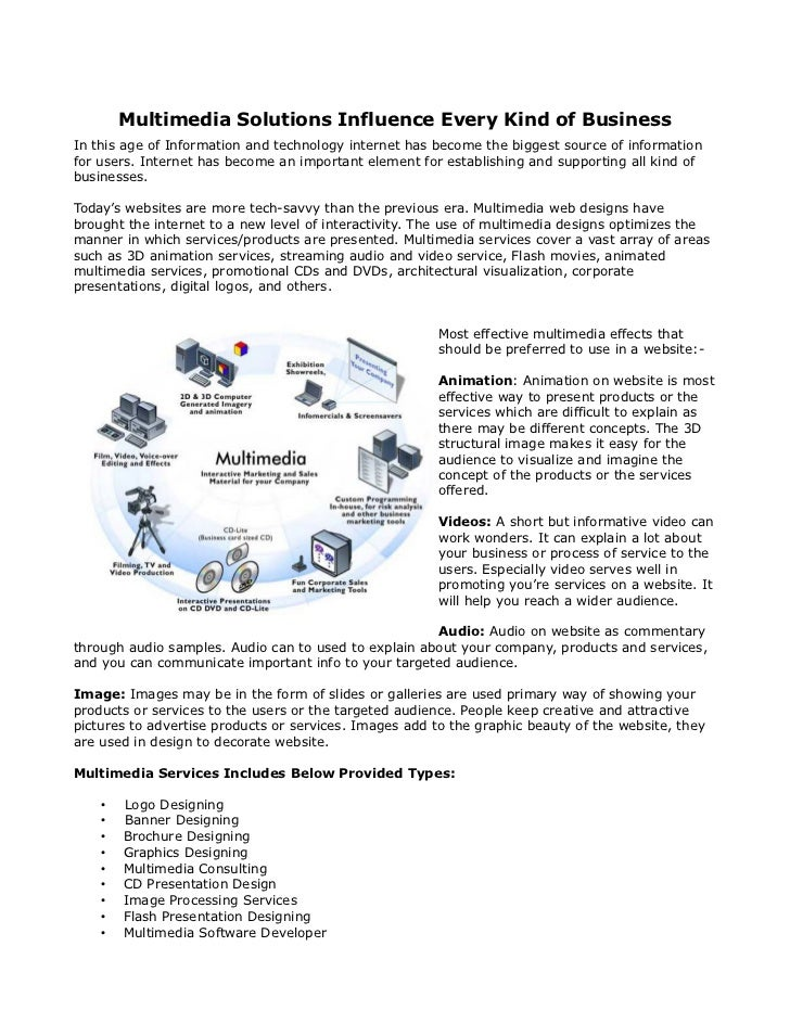 multimedia case study information technology