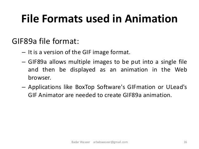 Multimedia System & Design Ch 6 animation