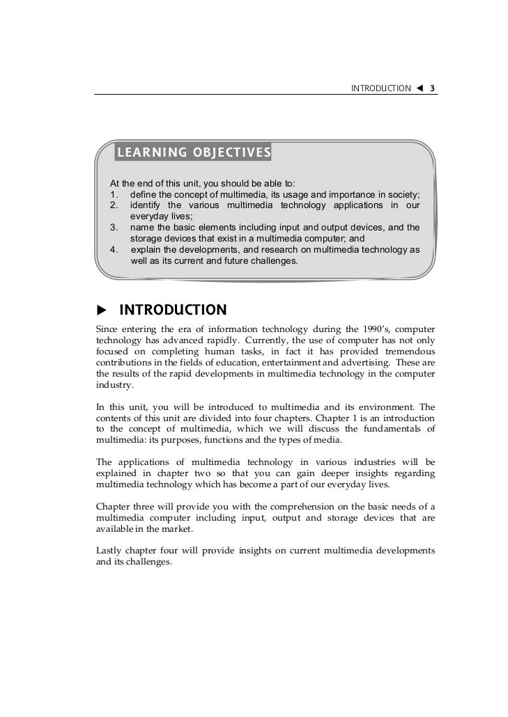 INTRODUCTION       3     LEARNING OBJECTIVES   At the end of this unit, you should be able to:   1. define the concept of ...