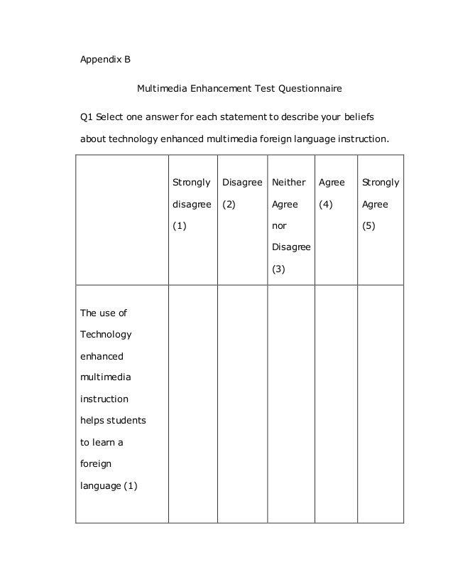 Do questionnaire dissertation