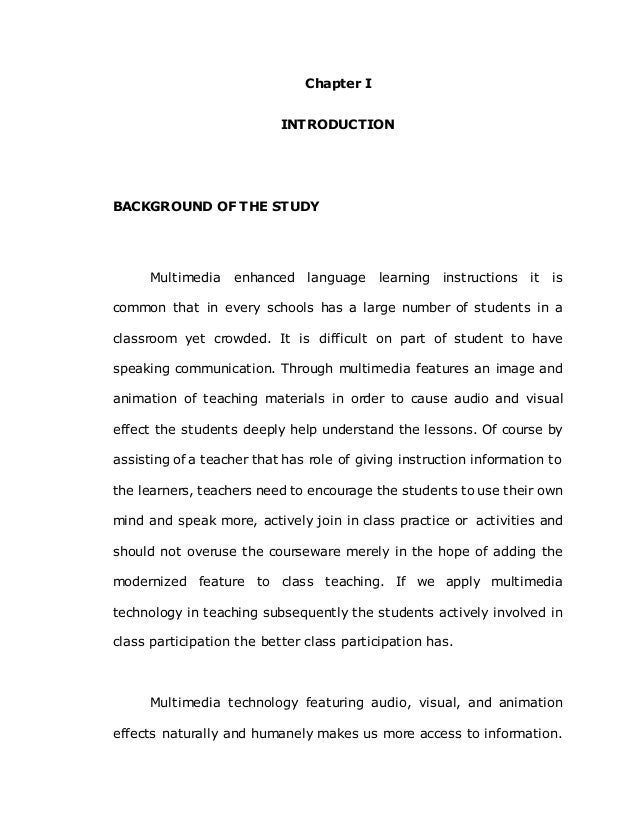 Multimedia thesis