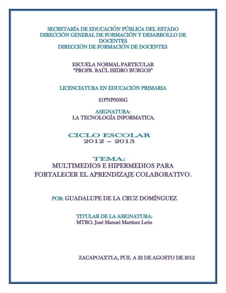 SECRETARÍA DE EDUCACIÓN PÚBLICA DEL ESTADO DIRECCIÓN GENERAL DE FORMACIÓN Y DESARROLLO DE                     DOCENTES    ...