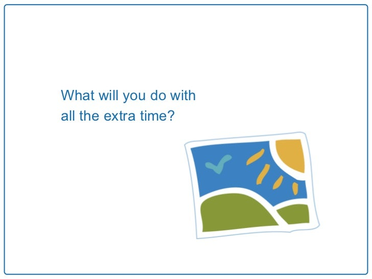 What will you do withall the extra time?