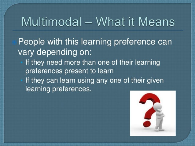 multimodal learning preference
