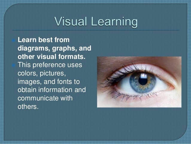 learning preferences My learning style what do you think before you get started your learning preferences show how your brain processes or translates information the most commonly mentioned learning styles include visual, auditory and tactile (or kinesthetic) learning.