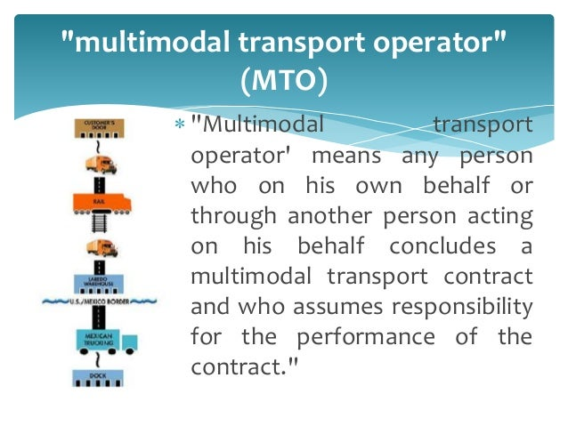 MULTIMODAL TRANSPORTS