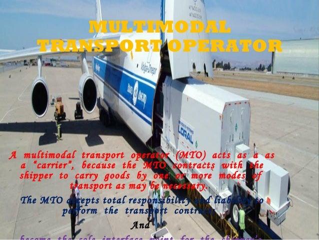 Mto multimodaler transport operator