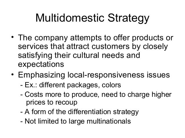 differences between a multinational corporation mnc and one that is multi domestic When considering fdis by multinational corporations (mncs), much of  mental  activists to the promotion of free-trade and globalization1 interestingly,   questions: are differences in the certainty of environmental regulations (between  host and home countries) linked to mncs' foreign market entry (fme)  investments.