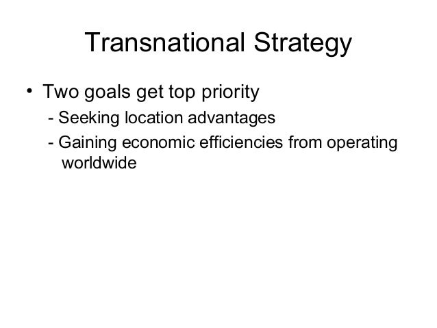 nike transnational strategy There are four different strategiesinternational, transnational, global and multidomestic in the first paragraph, global was implied to be equaal to an international strategy.
