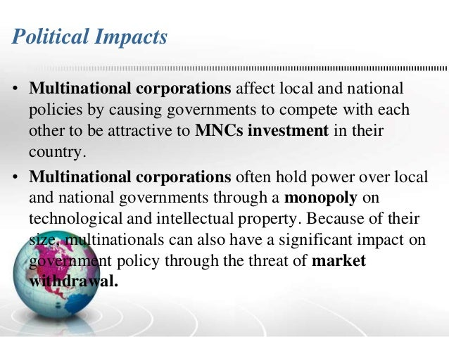 negative effects of multinational corporations