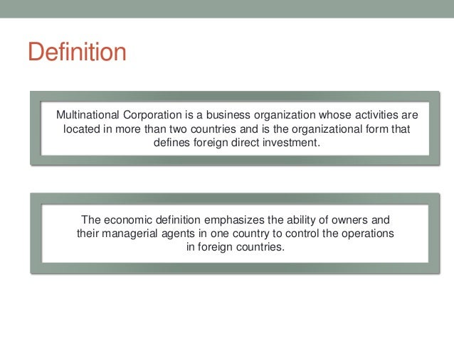 Essay on multinational corporations