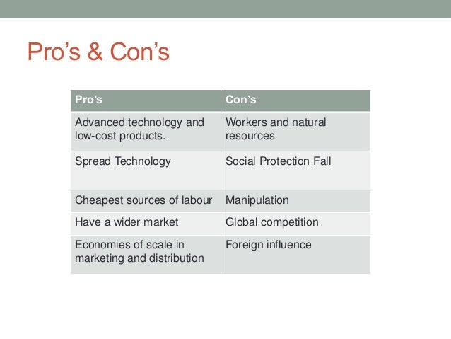 positive and negative aspects of multinational companies