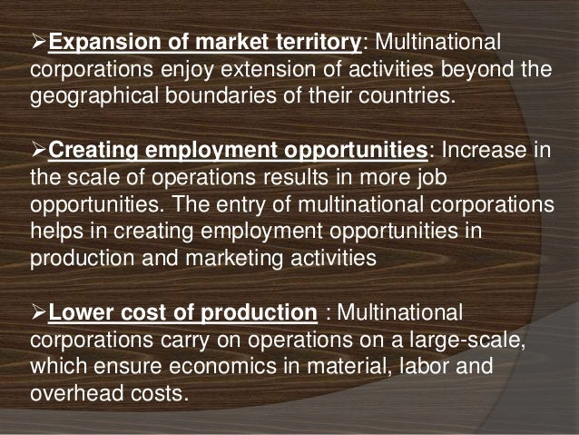 merits and demerits of multinational corporations