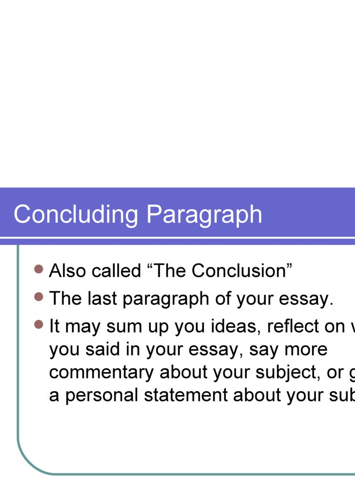 multiparagraph essay terminology 5 concluding paragraph