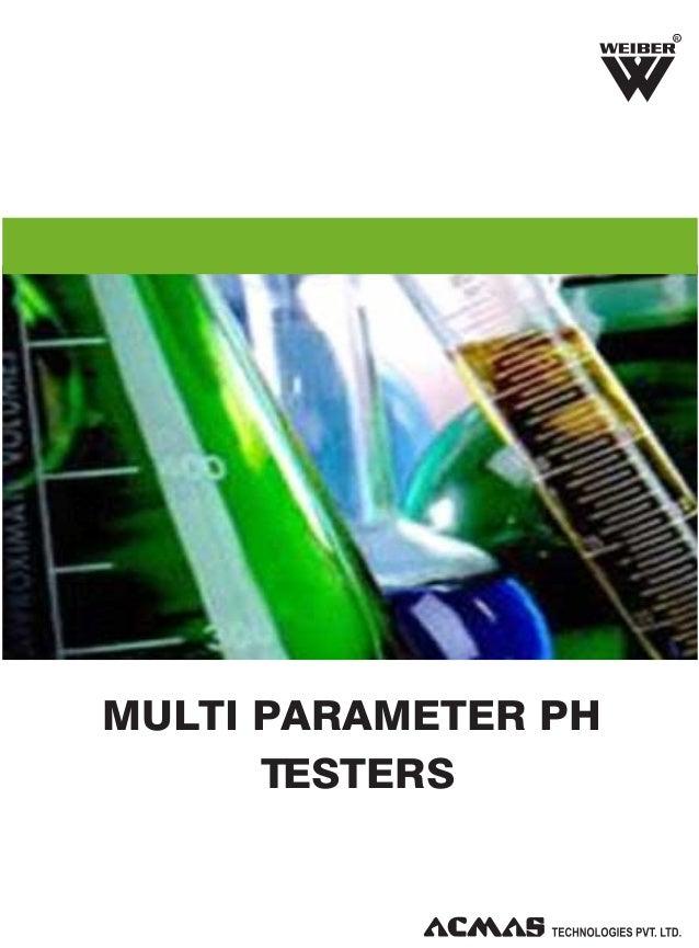 R  MULTI PARAMETER PH TESTERS