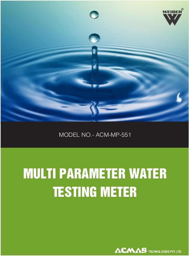 R  MODEL NO.- ACM-MP-551  MULTI PARAMETER WATER TESTING METER  TECHNOLOGIES PVT. LTD.