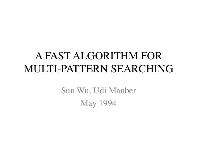 Multi pattern searching