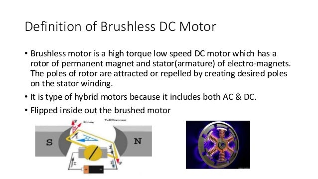 Brushed and brushless dc motors for Brushless dc motor applications