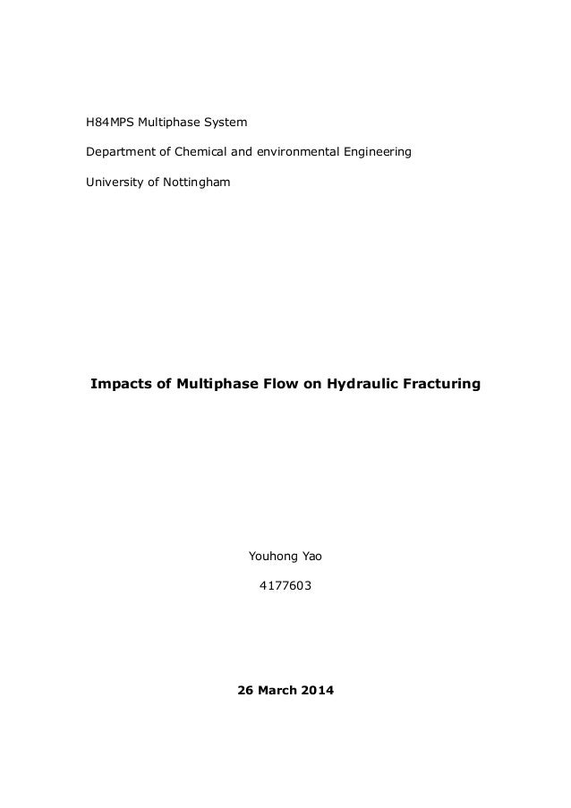 H84MPS Multiphase System Department of Chemical and environmental Engineering University of Nottingham Impacts of Multipha...