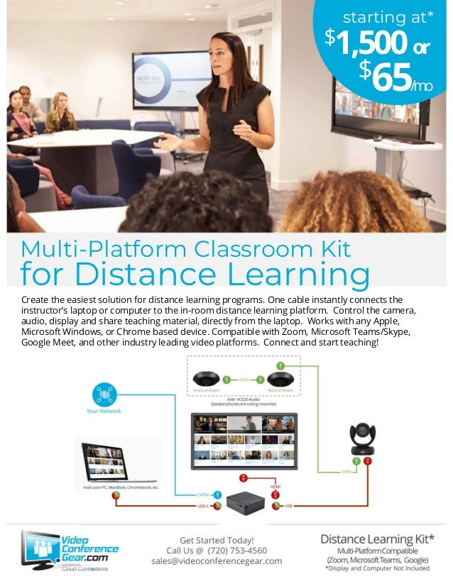 Create the easiest solution for distance learning programs. One cable instantly connects the instructor's laptop or comput...