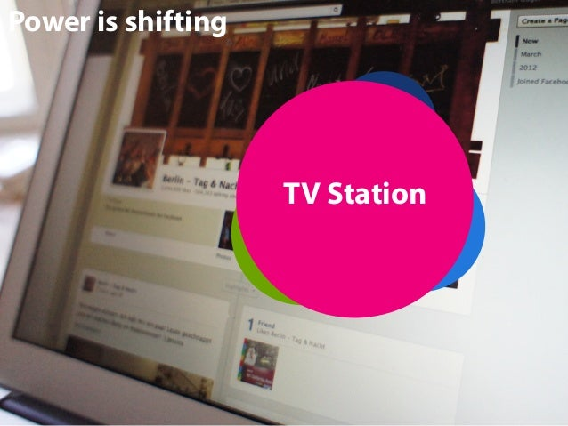 Power is shifting Actor  TV Station Producer Content