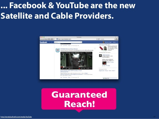 ... Facebook & YouTube are the new Satellite and Cable Providers.  Guaranteed Reach! http://trends.builtwith.com/media/You...