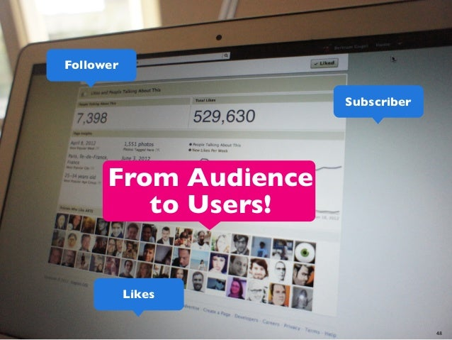 Follower Subscriber  From Audience to Users!  Likes 48