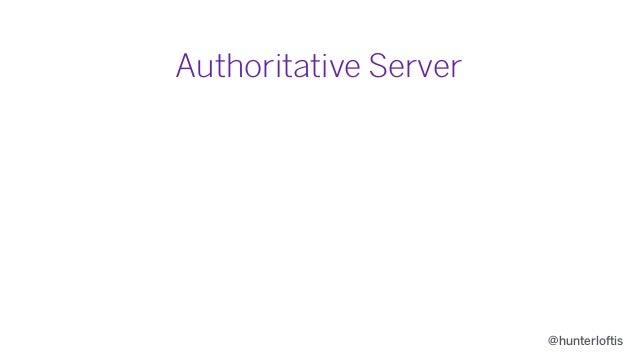 @hunterloftis Authoritative Server • Prevents cheating
