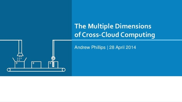 The Multiple Dimensions of Cross-Cloud Computing Andrew Phillips | 28 April 2014